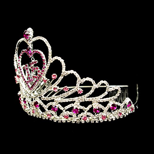 Couronne Princess Diadéme Bandeau Avec Strass Rouge Demoiselle d'Honneur