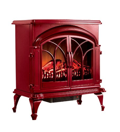 Portable 400 Square Foot Electric Stove with Stay-Cool Surface Color: Red