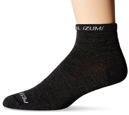 Pearl Izumi - Ride Men's Elite Low Wool Socks, Large, (Pearl Wool Yarn)