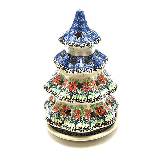 "Christmas Tree with Plate - 7 3/4"" - Maraschino"