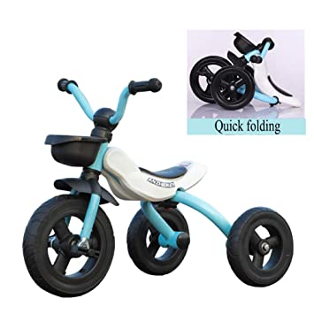 GIFT Triciclos para Niños Plegables con Función Triciclo De 3 Ruedas para Bicicletas De 2 A
