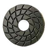 4'' Snail Lock Edge Polishing Disc Diamond Polishing Wheel 50 Grit for Granite Concrete Marble