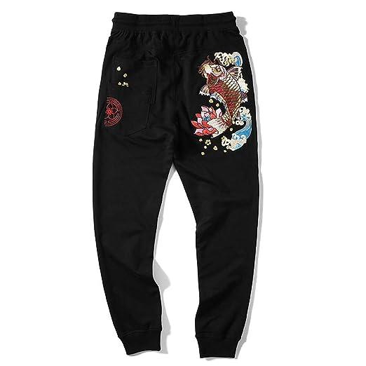 Pantalones de chándal para hombre Verano Otoño Estilo chino Carpa ...