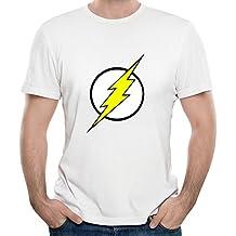 Gody Men's American Tv Flash Logo Grant Gustin Killer O-neck Cool Shirts White XL