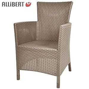 Allibert 'Utah' Dining Chair Jardín Ratán Silla Balcón Muebles Silla de comedor