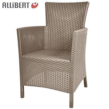 Allibert \'Utah\' Dining Chair Jardín Ratán Silla Balcón Muebles Silla ...
