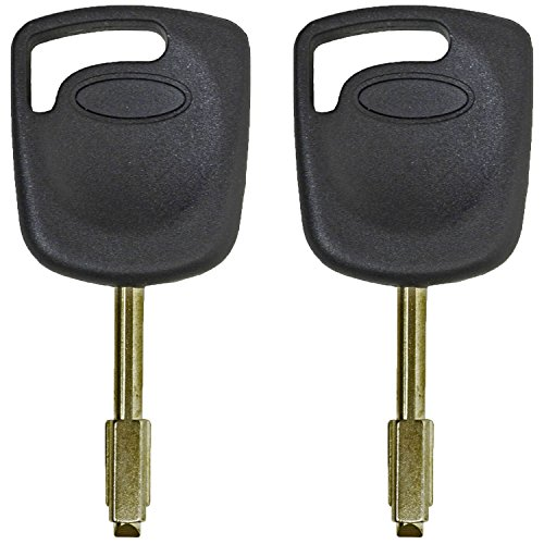 QualityKeylessPlus TWO Replacement Transponder Chip Keys FO21T7PT for Jaguar Vehicles with FREE KEYTAG by qualitykeylessplus