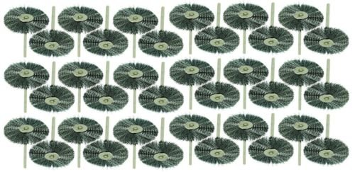 Generic YC-US2-151102-22 <8&2650*1> Rotary1/2'' Diamet Brushes 1 1/2'' 36pc Steel Diameter for Wheel Wire Dremel Rotary 36pc Steel by Generic