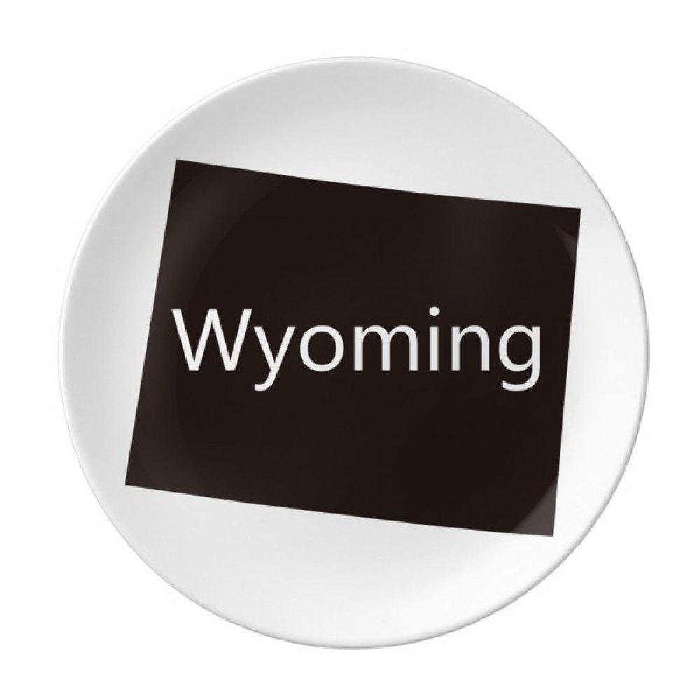 Wyoming The United States Of America Dessert Plate Decorative Porcelain 8 inch Dinner Home