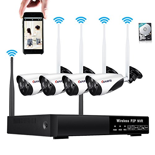 8CH Wireless Home Security Camera System - 8 Channel 960P Video Surveillance CCTV HDMI NVR Kit 4 720P Wireless Outdoor Indoor Wifi IP Camera, 100ft Night Vision 1TB HDD Motion Detection Remote (Hdd Motion Detection)