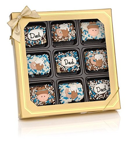 te Dipped Mini Crispy Rice Bars- Window Gift Box of 9 ()