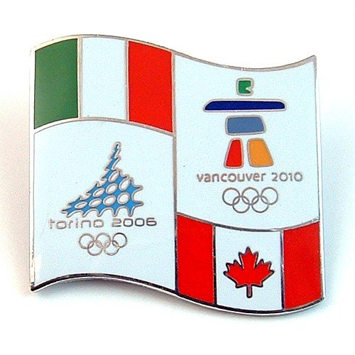 2010 Vancouver Olympic Pins - Vancouver 2010 Olympics - Torino to Vancouver Bridge Pin