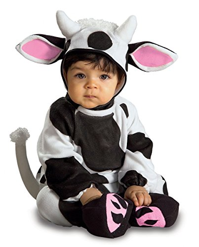 Cozy Cow, Black/White, 6-12 Months