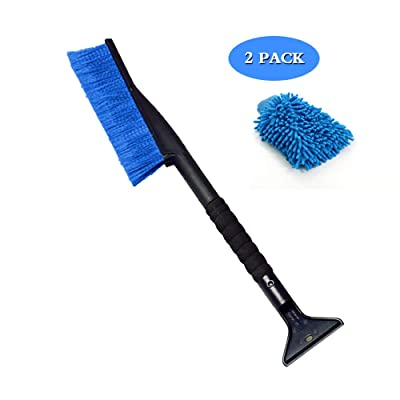 Sodhue Ice Scrapers for Car Windshield Snow Brush 2 in 1 Snow Remove Tool Snow Brush Integrated Detachable Ice Scrapers with Ergonomic Foam Grip Handle for Car SUV Truck: Automotive