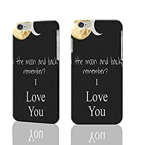 """I Love You To The Moon And Back 3D Rough iphone 6 -4.7 inches Case Skin, fashion design image custom iPhone 6 - 4.7 inches , durable iphone 6 hard 3D case cover for iphone 6 (4.7""""), Case New Design"""