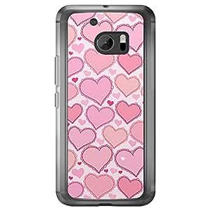 Loud Universe HTC M10 Love Valentine Printing Files Valentine 175 Printed Transparent Edge Case - Pink