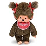 "Sekiguchi 7.75"" Tall Girl Monchhichi Doll with Red Bid"