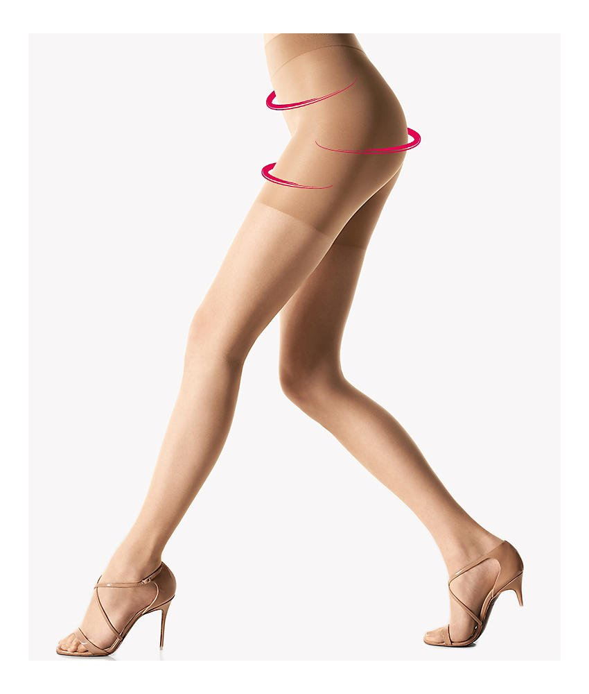 Wolford Luxe 9 Denier Shape and Control Top Pantyhose, S, Cosmetic