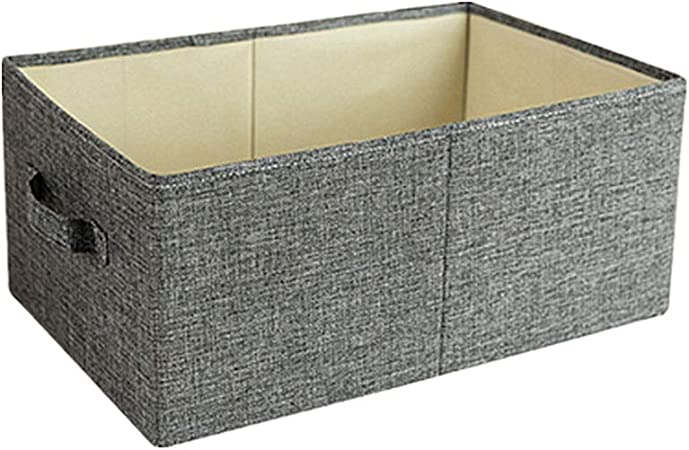 YuoungYuan Cajas de Tela almacenaje Caja Almacenamiento Tela de Cajas de Almacenamiento de Ropa Caja de Almacenamiento Los niños Cajas de Almacenamiento Gray,47 * 28 * 21cm: Amazon.es: Hogar