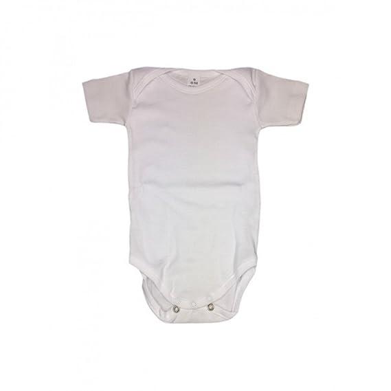 Body para bebés manga corta blanco marca Rapife (24 meses, Blanco)