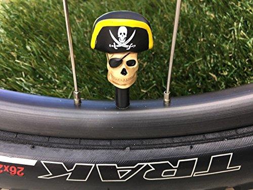 2海賊。。。シュレーダーバルブキャップMTB BMX。。。。。。。。。。。。。。。海賊帽子サイクリング自転車