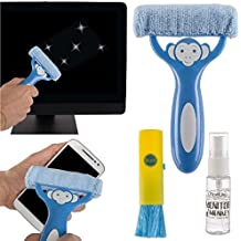 3pc Monitor Monkey Computer Screen Cleaning Kit, Remove Dust, Dirt, Grime, Clean Phones, Tablets, Monitors, TVs and More