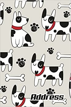 Address.: Address Book. (Vol. C23) Dog Cover Design. Glossy Cover,Contract Large Print, Font, 6