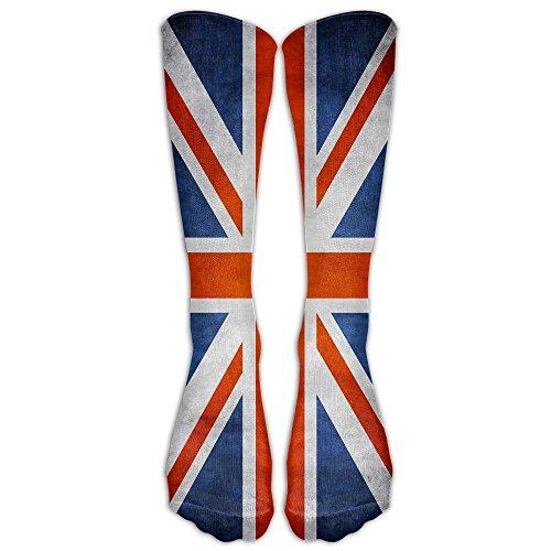 Mr.Roadman British Flag Design Knee High Socks Casual Stockings Comfortable Novelty Sports Socks Size 6-10 (One Pair) ()
