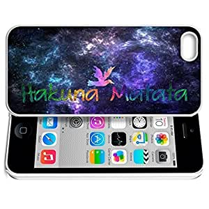 Africa Ancient Proverb HAKUNA MATATA Color Accelerating Universe Star Design Pattern HD Durable Hard Plastic Case Cover for iphone 5/5s hjbrhga1544