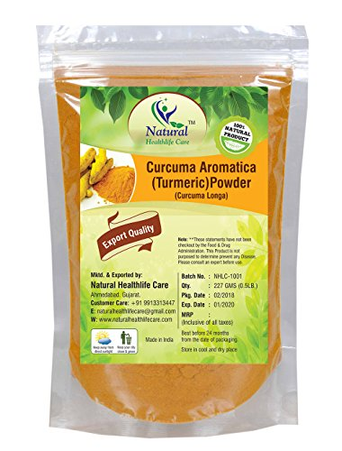 Natural Healthlife Care 100% Pure Natural Curucuma Aromatica (TUMERIC Root Powder)(Curcuma Longa) Powder (227g / (1/2 lb) / 8 ounces)
