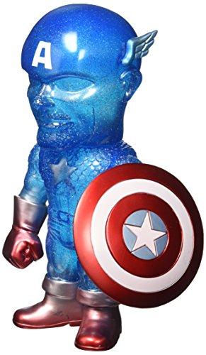 Hikari Japanese Vinyl: Limited Edition True Blue Captain America Sofubi Figure - ONLY 750 MADE