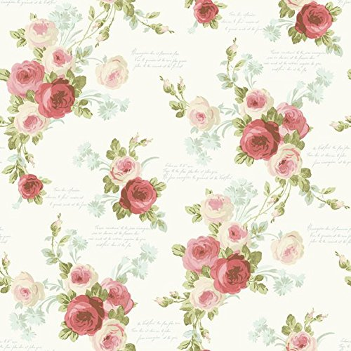 (Magnolia Home Heirloom Rose Removable Wallpaper Multi )