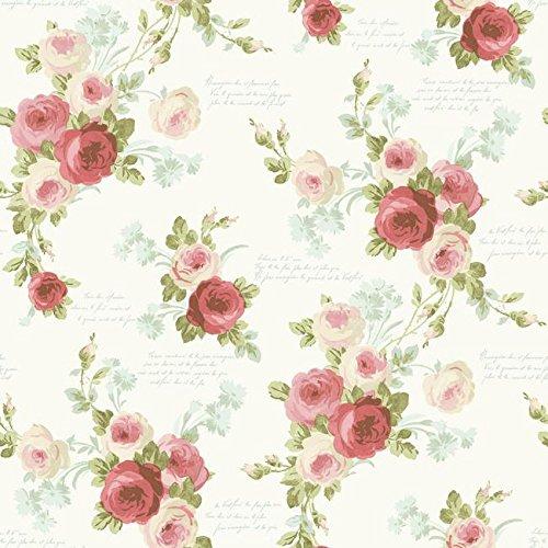 Magnolia Home Heirloom Rose Removable Wallpaper Multi