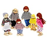 SODIAL(R) Happy Doll Family of 6 People