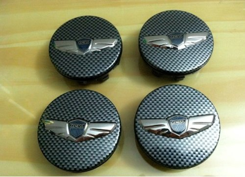 carbon fiber wheel center caps - 3