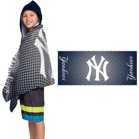 MLB New York Yankees ''Dots'' Youth Terry Cloth Hooded Wrap Towel by The Northwest Company