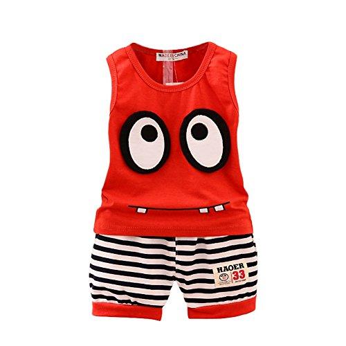 BAOBAOLAI Baby Boys Summer Outfits Sleeveless Top Shirt + Shorts Clothes Set