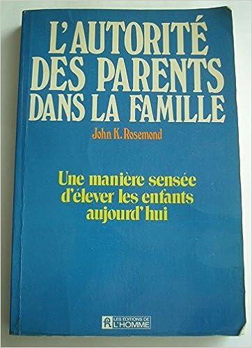 Livres L'autorité des parents dans la famille epub, pdf