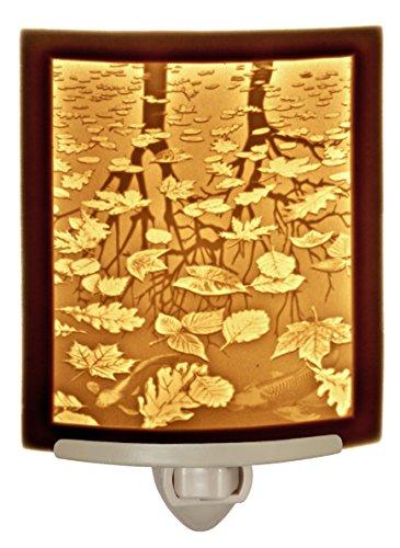 Still Reflections - Curved Porcelain Lithophane Night Light - Light Night Lithophane