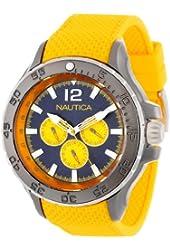 Nautica Men's N18675G NST Aluminum Multifunction  Stainless Steel Watch