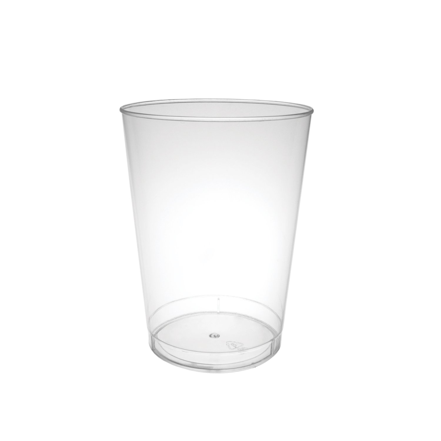 Party Essentials 20 Count Hard Plastic Party Cups, 16-Ounce, Pint Glasses, Clear