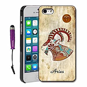 iPhone 6 Case H&F (TM) Retro Style Hard Plastic Case for with Star Sign iPhone 6 4.7'' Aries