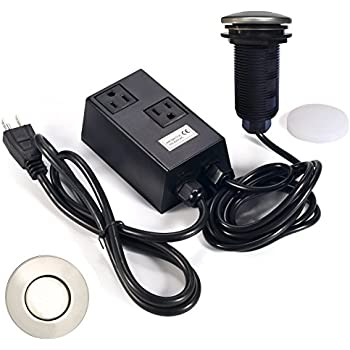 Amazon Com Garbage Disposal Air Switch Dual Outlet Sink