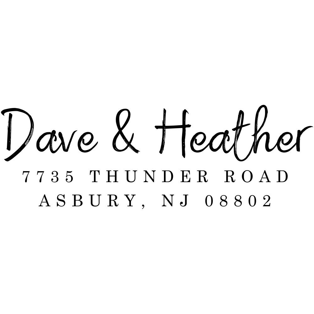 Personalized Couple Address Stamp, Self-Inking Wedding Stamps, Housewarming Gift