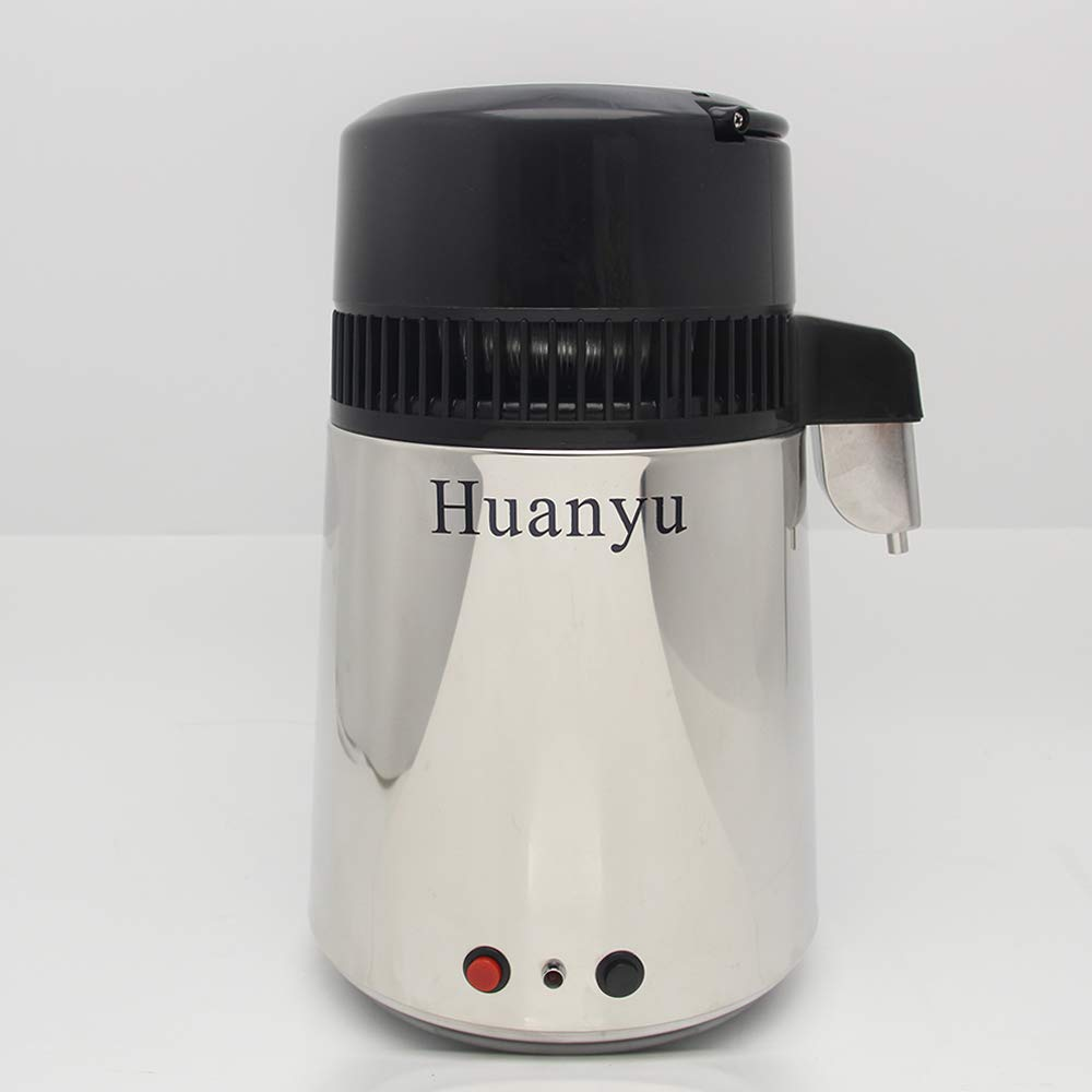 Huanyu 4L Pure Water Distiller Machine Distillation Purifier Filter Equipment with CE Approved (110V-130V) by Huanyu