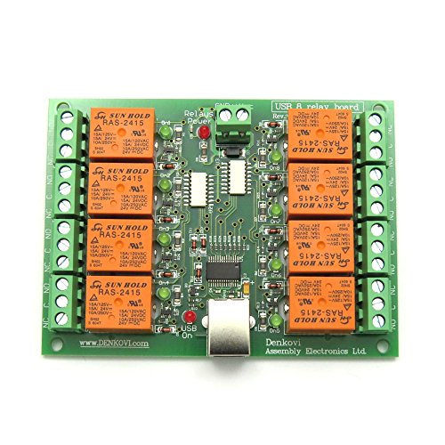 - USB Eight (8) Channel Relay Board for Automation - 24VDC