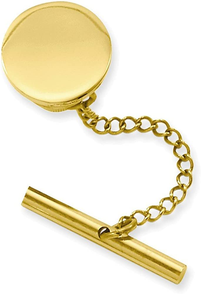 Jewelry Adviser Gifts Gold-plated Kelly Waters Round Polished Tie Tac