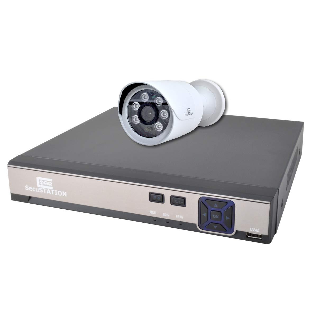 独特な店 SecuSTATION 黒 日本メーカー 防犯カメラ 1台セット PoE 日本メーカー B0757FLNBK 264万画素 高耐久HDD 屋外 防水防塵 マイク内蔵 高耐久HDD NVR4ch 8TB内蔵 SC-XP45K B0757FLNBK ホワイト 内蔵HDDなし 内蔵HDDなし|ホワイト, Detailsbymonosapiens:17afc4d2 --- arianechie.dominiotemporario.com