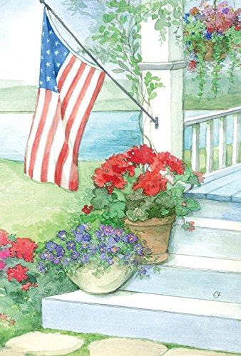 Toland Home Garden Patriotic Porch 28 x 40-Inch Decorative USA-Produced House Flag
