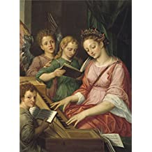 The high quality polyster Canvas of oil painting 'Coxcie Michiel I Saint Cecile 1569 ' ,size: 18 x 24 inch / 46 x 62 cm ,this Cheap but High quality Art Decorative Art Decorative Prints on Canvas is fit for Bedroom decoration and Home artwork and Gifts